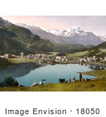 #18050 Picture Of The Resort Village Of St Moritz And The Baths Grisons Switzerland