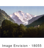 #18055 Picture Of Jungfrau Mountain In The Swiss Alps Bernese Oberland Switzerland