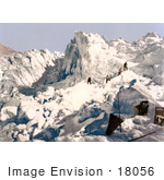 #18056 Picture Of Men Climbing The Mont Pers Glacier Upper Engadin Graubunden Switzerland