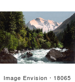 #18065 Picture Of The Lutschine River And Jungfrau Mountain Switzerland