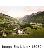 #18069 Picture Of A Hotel And Village Vulpera Lower Engadin Graubunden Switzerland