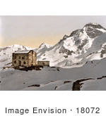 #18072 Picture Of Club Cottage Building In Snow Theodulpass Valais Switzerland