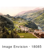 #18085 Picture Of The Villages Of Vulpera And Fetan Lower Engadin Graubunden Switzerland