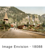 #18088 Picture Of Alpbach Falls Lutschinen Bernese Oberland Switzerland