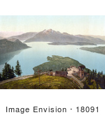 #18091 Picture Of A Viewpoint At The Lake Of The Four Cantons/Lake Lucerne Switzerland