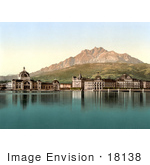 #18138 Photo Of The Railway Station And Pilatus Moutain Lucerne Switzerland