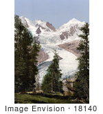 #18140 Photo Of Piz Roseg Glacier Upper Engadine Grisons Switzerland