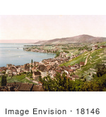 #18146 Photo Of The Villages Of Montreux And Clarens On Geneva Lake In Vevey Vaud Switzerland