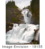 #18155 Photo Of A Large Waterfall In Reichenbach Bernese Oberland Switzerland