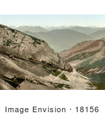 #18156 Photo Of The Cogweel Railway On The Side Of Pilatus Mountain Switzerland