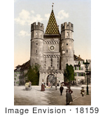 #18159 Photo Of The City Gate Of Spalen/The Spalenthor In Basle Switzerland