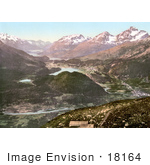 #18164 Photo Of Lakes Rivers And Villages In The Valley Of The Upper Engadine Grisons Switzerland