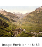 #18165 Photo Of The Village Of Andermatt Ursern Valley Uri Switzerland