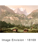 #18169 Photo Of Wellhorn And Wetterhorn Mountains Bernese Alps Bernese Oberland Switzerland