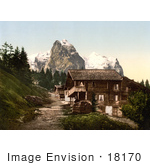 #18170 Photo Of The Sawmill In Rosenlaui Bernese Oberland Switzerland