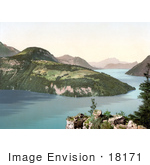 #18171 Photo Of The Village Of Seelisberg On Lake Lucerne Uri Switzerland