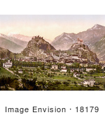 #18179 Photo Of Tourbillon Castle And Basilique De Valere In The City Of Sion Valais Switzerland