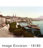 #18180 Photo Of A Steamboat Along The Promenade Lucerne Switzerland