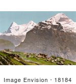 #18184 Photo Of A Mountain Village Of Murren In The Swiss Alps Bernese Oberland Switzerland
