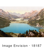 #18187 Photo Of Lake Silvaplana In The Valley Of Upper Engadine Grisons Switzerland