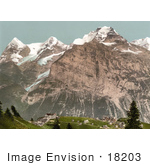 #18203 Photo Of The Mountain Village Of Murren In The Swiss Alps Bernese Oberland Switzerland