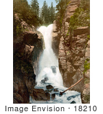 #18210 Photo Of A Waterfall In Rosenlaui Bernese Oberland Switzerland