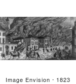 #1823 Burning Of New York By The Americans