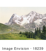 #18239 Photo Of Wengern Alp Monch And Eiger Mountains Bernese Oberland Switzerland