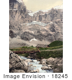 #18245 Photo Of Great Scheidegg And Glacier Bernese Oberland Switzerland