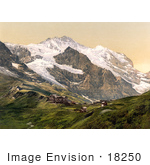 #18250 Photo Of Hotel Jungfrau In Murren Silberhorn And Jungfrau Mountains Scheidegg Bernese Oberland Switzerland