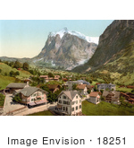 #18251 Photo Of The Village Of Grindelwald And Wetterhorn Interlaken Berne Bernese Oberland Switzerland