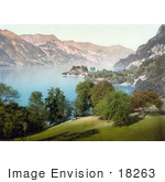 #18263 Photo Of The Village Of Iseltwald On Brienz Lake In Berne Bernese Oberland Switzerland