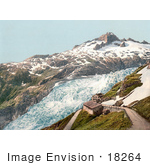 #18264 Photo Of The Hotel At Furka Pass By The Rhone Glacier Bernese Oberland Switzerland