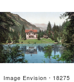 #18275 Photo Of A Building On The Shore Of The Blausee Lake Kander Valley Kandersteg Bernese Oberland Switzerland