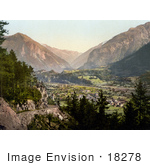 #18278 Photo Of The Village Of Meiringen Oberhasli Berne Bernese Oberland Switzerland