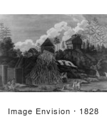 #1828 Saw Mill And Block House Upon Fort Anne Creek