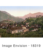 #18319 Photo Of Crops Castles And Buildings In Bellinzona Lugano Tessin Switzerland