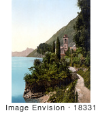 #18331 Photo Of A Bell Tower In Oria Lake Lugano Switzerland