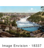 #18337 Photo Of Fortified Munot And The Falls Of The Rhine Schaffhausen Switzerland