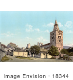 #18344 Photo Of The Cathedral In Sion Valais Switzerland