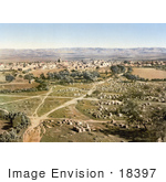 #18397 Photo Of A View From The Tower Of The Forty Martyrs Ramlah Holy Land Israel