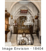 #18404 Photo Of The Interior Of The Church Of The Annunciation Nazareth Israel