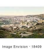 #18409 Photo Of Nazareth As Seen From The Road To Cana Holy Land Israel