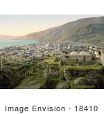 #18410 Photo Of City Of Tiberias On The Sea Of Galilee Holy Land Israel
