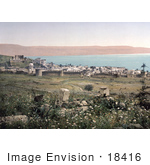 #18416 Photo Of The City Of Tiberias On The Shore Of The Sea Of Galilee Holy Land Israel