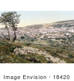 #18420 Photo Of The City Of Nazareth Holy Land Israel