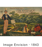 #1843 Uncle Sam Says - Garden To Cut Food Costs