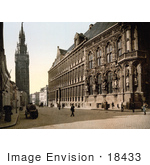#18433 Photo Of The Belfry Tower Near The Hotel De Ville Ghent Belgium
