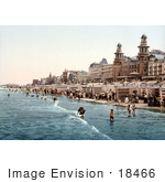#18466 Photo Of The Kursaal Hotel Rvs And People On The Beach Blankenberghe Belgium