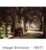 #18471 Photo Of The Cloister At St Bavon Abbey In Ghent Belgium